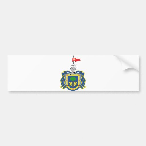 Coat of Arms of Jalisco Mexico Official Symbol Bumper Sticker