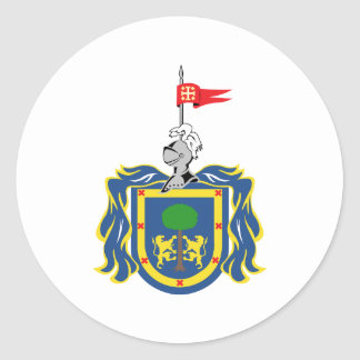 Coat of Arms of Jalisco Mexico Official Symbol Classic Round Sticker