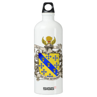 Coat of Arms of John Bancroft of Lynn, MA 1632 Aluminum Water Bottle
