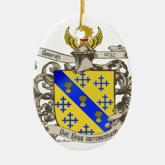 Coat of Arms of John Bancroft of Lynn, MA 1632 Ceramic Ornament