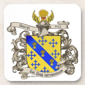 Coat of Arms of John Bancroft of Lynn, MA 1632 Drink Coasters