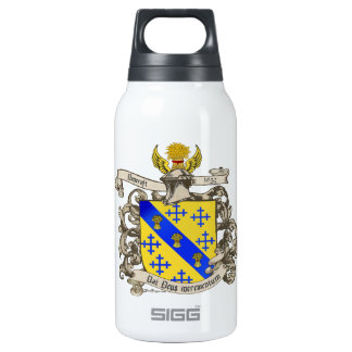 Coat of Arms of John Bancroft of Lynn, MA 1632 Insulated Water Bottle