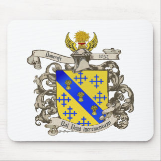 Coat of Arms of John Bancroft of Lynn, MA 1632 Mouse Pad