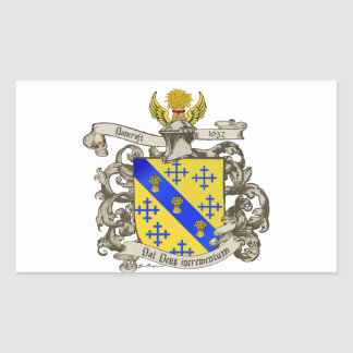 Coat of Arms of John Bancroft of Lynn, MA 1632 Rectangular Sticker