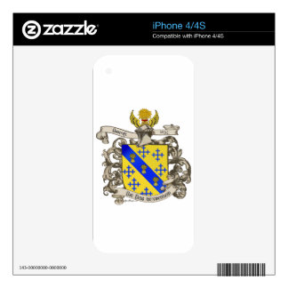 Coat of Arms of John Bancroft of Lynn, MA 1632 iPhone 4 Decal