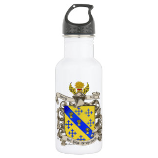 Coat of Arms of John Bancroft of Lynn, MA 1632 Stainless Steel Water Bottle
