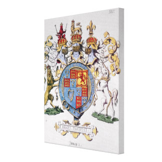 Coat of Arms of King James I of England Canvas Prints