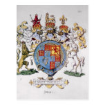 Coat of Arms of King James I of England Post Cards