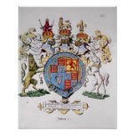 Coat of Arms of King James I of England Poster
