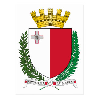 Coat_of_arms_of_Malta Postcard