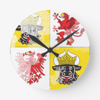 Coat of arms of Mecklenburg Western Pomerania Round Wall Clocks