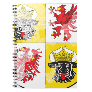 Coat of arms of Mecklenburg Western Pomerania Spiral Note Book