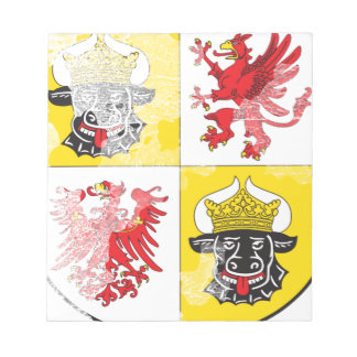 Coat of arms of Mecklenburg Western Pomerania Note Pad
