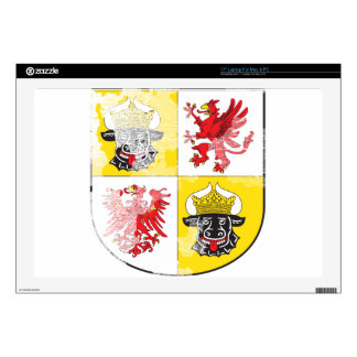 """Coat of arms of Mecklenburg Western Pomerania 17"""" Laptop Decals"""