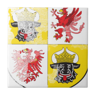 Coat of arms of Mecklenburg Western Pomerania Ceramic Tile