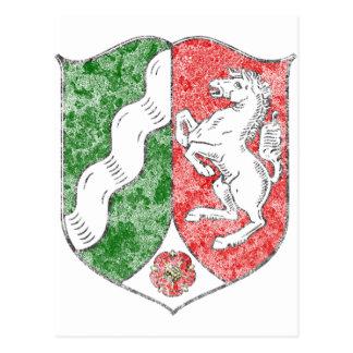Coat of arms of North Rhine Westfalia Postcard