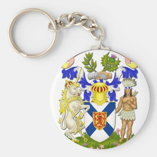 Coat Of Arms Of Nova Scotia Keychain