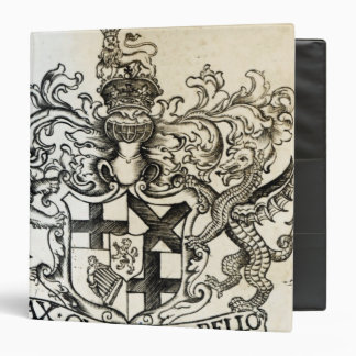 Coat of arms of Oliver Cromwell Binder