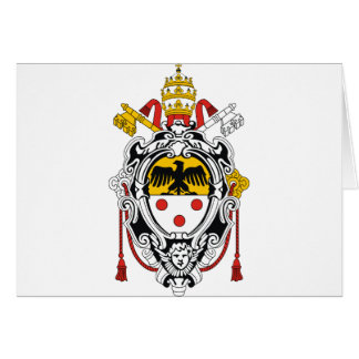Coat of Arms of Pope Pius XI Greeting Card