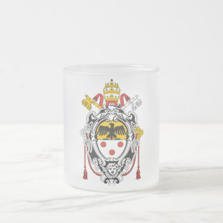 Coat of Arms of Pope Pius XI Frosted Glass Coffee Mug