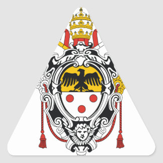 Coat of Arms of Pope Pius XI Triangle Sticker