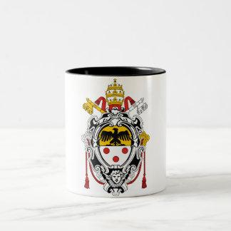 Coat of Arms of Pope Pius XI Two-Tone Coffee Mug