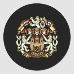 Coat of Arms of Prague Classic Round Sticker