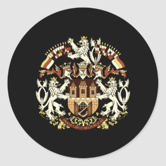 Coat of Arms of Prague Classic Round Sticker