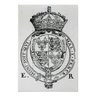 Coat of Arms of Queen Elizabeth I Poster
