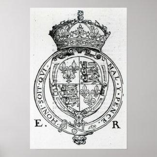 Coat of Arms of Queen Elizabeth I Print