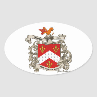 Coat of Arms of Richard Arnold of Dorset, England Oval Sticker