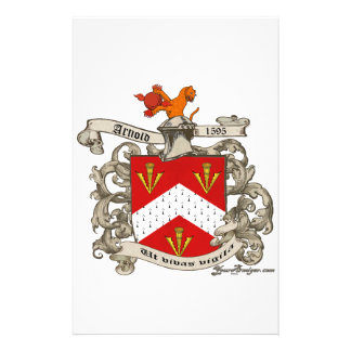 Coat of Arms of Richard Arnold of Dorset, England Stationery