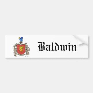 Coat of Arms of Samuel Baldwin of Windsor, MA Bumper Sticker