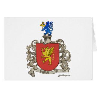 Coat of Arms of Samuel Baldwin of Windsor, MA Card