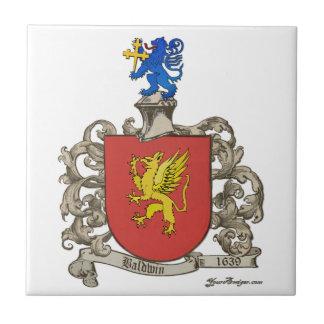 Coat of Arms of Samuel Baldwin of Windsor, MA Ceramic Tile