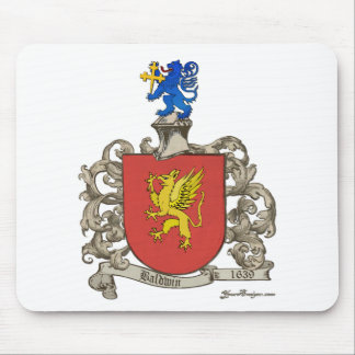 Coat of Arms of Samuel Baldwin of Windsor, MA Mouse Pad