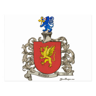 Coat of Arms of Samuel Baldwin of Windsor, MA Postcard