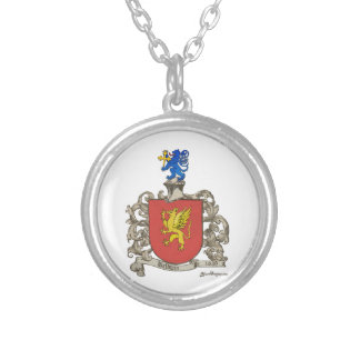 Coat of Arms of Samuel Baldwin of Windsor, MA Round Pendant Necklace
