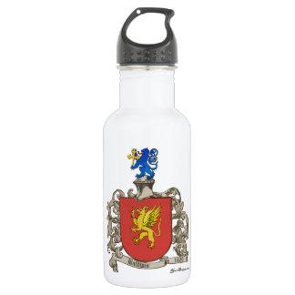 Coat of Arms of Samuel Baldwin of Windsor, MA Stainless Steel Water Bottle