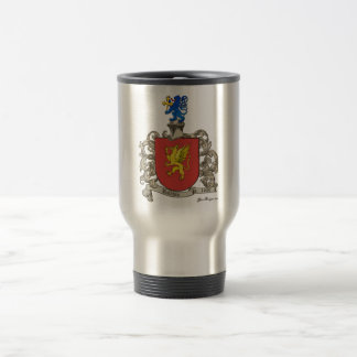 Coat of Arms of Samuel Baldwin of Windsor, MA Travel Mug