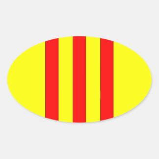 Coat of Arms of South Vietnam (1963 - 1975) Oval Sticker
