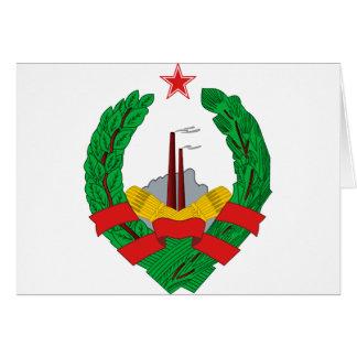 Coat of Arms of SR Bosnia Card