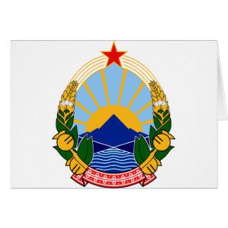 Coat of arms of SR Macedonia Card