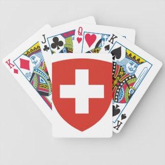 Coat of Arms of Switzerland - Wappen der Schweiz Bicycle Playing Cards