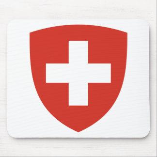 Coat of Arms of Switzerland - Wappen der Schweiz Mouse Pad
