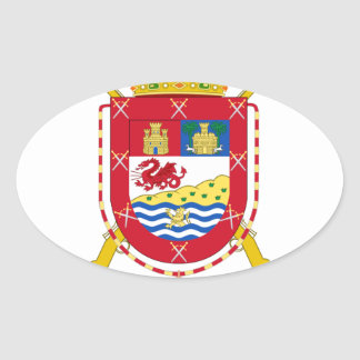Coat of Arms of the 50th Light Infantry Regiment Oval Sticker