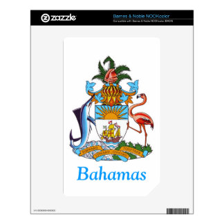 Coat of arms of the Bahamas Decal For NOOK Color