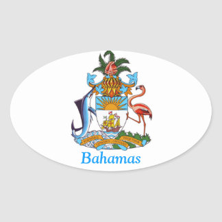 Coat of arms of the Bahamas Oval Sticker