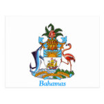 Coat of arms of the Bahamas Postcard