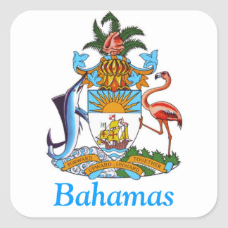 Coat of arms of the Bahamas Square Sticker